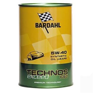 Изображение Моторное масло Bardahl Technos C60 5W40 Exceed 1 л.